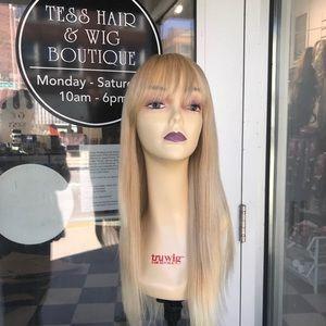 Accessories - Blonde wig  human hair bangs 27/613 24inch Long